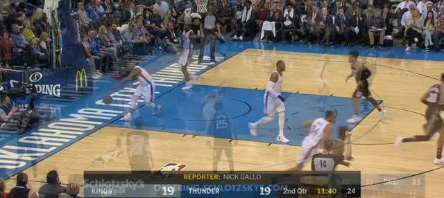 Berita video game recap NBA 2017-2018 antara Oklahoma City Thunder melawan Sacramento Kings dengan skor 106-101.
