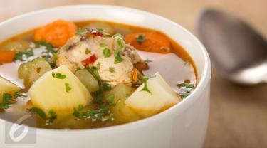 Ilustrasi Sup Ayam