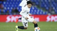 5. Lee Kang-in (Korea Selatan) - Pemain muda asal Korea Selatan ini merupakan salah satu penggawa di skuat utama Valencia. Lee Kang-in akan menjadi andalan Korea Selatan ketika tampil di Piala Dunia U-20 2021 di Indonesia. (AFP/Benyamin Cremel)