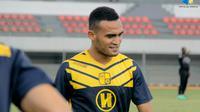 Rizki Pora dan rekan di tim Barito Putera akan menjalani uji coba melawan Martapura FC dalam Derby Banua. (Bola.com/Istimewa)