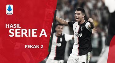 Berita video hasil Serie A 2019-2020 pekan ke-2. Juventus kalahkan Napoli 4-3 di Allianz Stadium, Lazio vs AS Roma berakhir imbang 1-1.