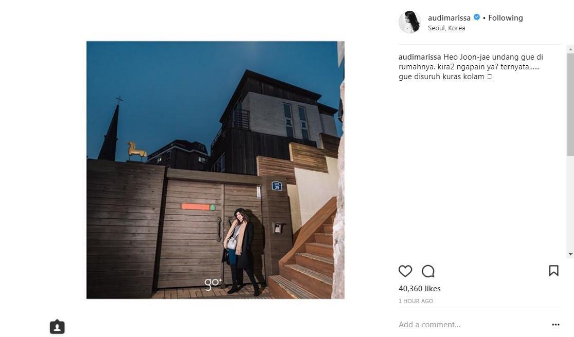 Audi Marissa dapat undangan dari Lee Min Ho? (Foto: Instagram)