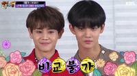 Dalam sesi karaoke di Happy Together, Yoseob HIGHTLIGHT mengaku terkejut saat melihat Bae Jin Young Wanna One. (Allkpop/KBS)