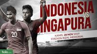 Sepak Bola Pria SEA Games 2019: Indonesia U-22 vs Singapura U-22. (Bola.com/Dody Iryawan)