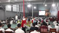Keluarga besar calon presiden nomor urut 01 Joko Widodo menggelar acara nonton bareng debat capres kelima di Solo.