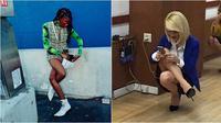 Pose kaki nyeleneh (Sumber: Instagram/peoplestanding)