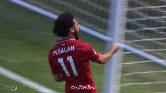 Liverpool memastikan tiket Liga Champions musim depan dengan melumat Brighton empat gol tanpa balas, Minggu (13/5). Mohamed Salah ...