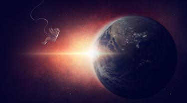 Ilustrasi Luar Angkasa, Alam Semesta, Astronot, Angkasawan