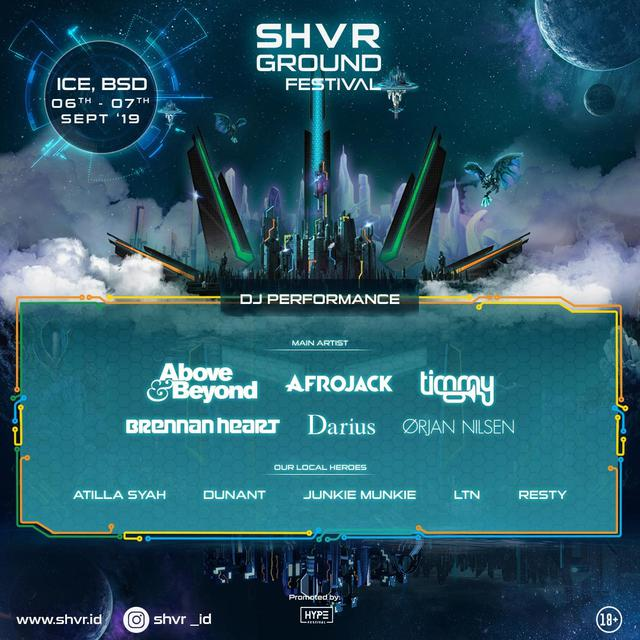 Line Up Fase Pertama SHVR Ground Festival 2019