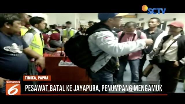 Penumpang mengamuk saat pesawat Sriwijaya Air SJ 588 batal ke Jayapura karena alasan pesawat harus kembali ke Makassar.