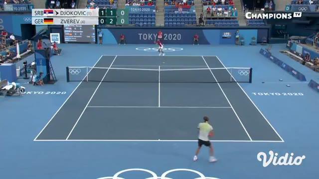 Petenis peringkat satu dunia Novak Djokovic tumbang dibabak semifinal. Djokovic menyerah dari petenis Jerman Alexander Zverev dengan skor akhir 6-3, 3-6, dan 1-6.