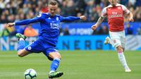 7. James Maddison (Leicester) - Maddison mengenakan nomor punggung 10 ketika bergabung dengan Leicester pada musim 2018-2019. Ia menjadi andalan Leicester untuk mencetak gol. (AFP/Lindsey Parnaby)