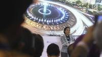 Menteri BUMN Rini Soemarno memberi sambutan dalam IIF 2018 di IMF-WB 2018, Bali, Selasa (9/10). Kerjasama 21 proyek infrastruktur pada 12 BUMN senilai total USD13,6 miliar dengan investor lokal dan asing pada 11 Oktober 2018. (Liputan6.com/Angga Yuniar)