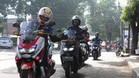 Sunmori Komunitas motor maxi Yamaha dan jurnalis (Foto:YIMM)
