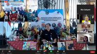 Bupati Magetan Suprawoto dalam Webinar bertajuk 'Bangkit dari Pandemi dengan Literasi' yang digelar pada Rabu, 17 Juni 2020, melalui video telekonferensi. (Liputan6.com/ Ist)