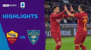 Berita Video Highlights Serie A, AS Roma Menang Telak 4-0 Atas Lecce