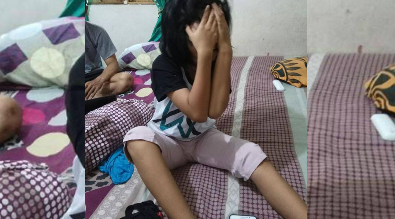 Siti Raisa Miranda alias Echa, pengidap sindrom putri tidur asal Banjarmasin, Kalsel, terbangun setelah kembali tidur nonstop yang kali ini selama empat hari. (Foto: Istimewa/Facebook/akun Moel Ya Lo Ve)