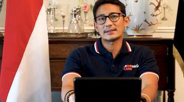 Menparekraf Sandiaga Uno sebagai pembicara utama di Wisuda XX Universitas Multimedia Nusantara. (Foto: Dok. Stephanus Novi/Koor. Media Wisuda XX Universitas Multimedia Nusantara)