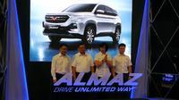 Wuling Motors akhirnya resmi memperkenalkan model sport utility vehicle (SUV) terbarunya, Wuling Almaz. (Arief/Liputan6.com)