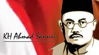 Seperti Sukarno, kiai asal Sukabumi yang sudah tiga kali diusulkan menjadi pahlawan nasional itu juga selalu mengenakan peci hitam. (Liputan6.com/Mulvi Mohammad)