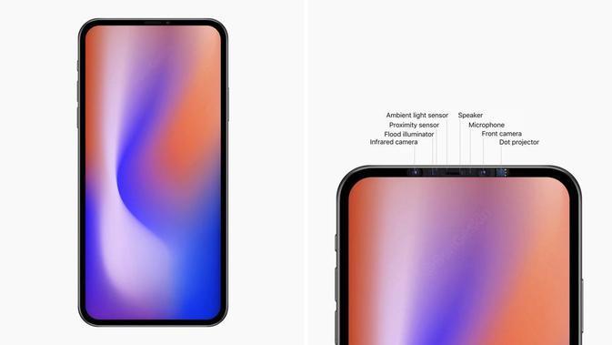 Bentuk desain prototipe iPhone 2020. (Doc: Twitter/ Ben Geskin)