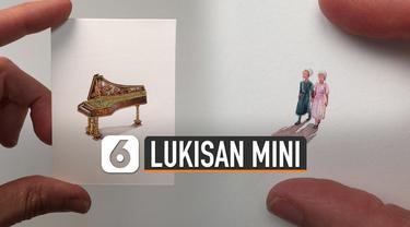 Lukisan biasa identik dengan objek yang besar dan kertas atau kain yang besar. Tapi berbeda dengan lukisan ini yang besarnya hanya seujung jari.
