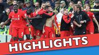 Video highlights Premier League antara Norwich City melawan Liverpool yang berakhir dengan skor 4-5, Sabtu (23/1/2016) WIB.