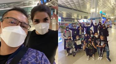 6 Momen Keberangkatan Keluarga Anang Hermasnyah Antar Ashanty Berobat ke Dubai