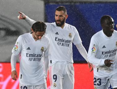 FOTO: Real Madrid Gusur Barcelona di Posisi ke-2 usai Bungkam Getafe 2-0