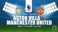 ASTON VILLA  VS MANCHESTER UNITED (Liputan6.com/Abdillah)