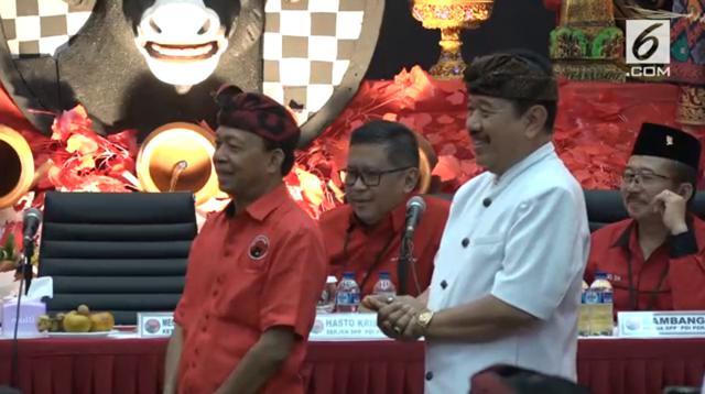 Calon kepala daerah untuk Pilkada Bali 2018 yang diusung PDIP. (Liputan6.com/Nanda Perdana Putra)