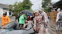 Banjir merendam sedikitnya 300 rumah penduduk di Kelurahan Kampung Damai, Belitung. (Kapusdatinmas BNPB/ Istimewa)