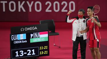 Foto: Tambahan Kado Manis untuk Indonesia, Anthony Ginting Persembahkan Medali Perunggu Bulu Tangkis Tunggal Putra Olimpiade Tokyo 2020