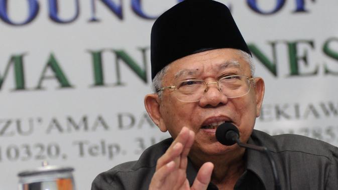 Ma'ruf Amin merupakan ulama yang digandeng Jokowi untuk menjadi cawapres dalam Pemilihan Presiden 2019.