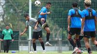 Timnas U-23 Indonesia saat melakoni uji coba internal (dok: pssi)