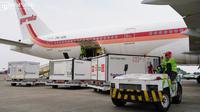 Indonesia kedatangan vaksin COVID-19 tahap ke-71 berupa 5.000.000 dosis Sinovac dalam bentuk jadi di Bandara Soekarno-Hatta, Tangerang pada Selasa, 21 September 2021. (Dok RYIADHY/INFOPUBLIK/Kementerian Komunikasi dan Informatika RI)