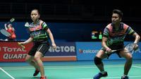 Ganda campuran Indonesia, Tontowi Ahmad/Winny Oktavina Kandow, menang 21-15, 21-18 atas pasangan Vietnam, Do Tuan Duc/Pham Nhu Thao, di babak pertama Malaysia Terbuka 2019, Selasa (2/4/2019). (PBSI)