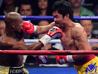 Floyd Mayweather Berhasil Taklukan Manny Pacquiao