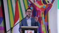 Gubernur Jabar Ridwan Kamil menghadiri pembukaan Musyawarah Daerah (Musda) XVI Himpunan Pengusaha Muda Indonesia (HIPMI) Jawa Barat.