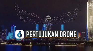 Biasanya atraksi pertunjukan kembang api dilakukan dengan kembang api. Tetapi berbeda dengan pertunjukan kembang api ini karena dilakukan oleh ribuan drone.