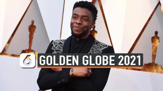Mendiang aktor Chadwick Boseman berhasil mendapatkan piala Golden Globe 2021. Piala Golden Globe Boseman diterima oleh sang istri.