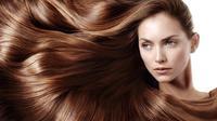 Ilustrasi rambut berkilau. (via: perawatankulitwajah)