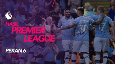Berita video hasil Premier League 2019-2020 pekan ke-6. Manchester City menang besar di kandang Watford, Liverpool bungkam Chelsea di Stamford Bridge.