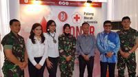 Perempuan Jenggalam menggelar aksi donor darah bersama PMI Pusat. (Istimewa)