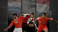 Ruud Gullit, Kevin Diks dan Giovanni van Bronckhorst. (Bola.com/Dody Iryawan)