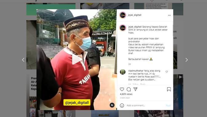 Cek Fakta Liputan6.com menelusuri klaim video penangkapan imam yang menyuruh rapatkan shaf salat