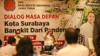 Calon Wali Kota Surabaya Eri Cahyadi dan Calon Wakil Wali Kota Armuji bertemu dengan jajaran pengusaha dari DPD Realestate Indonesia (REI). (Foto: Dok Istimewa)