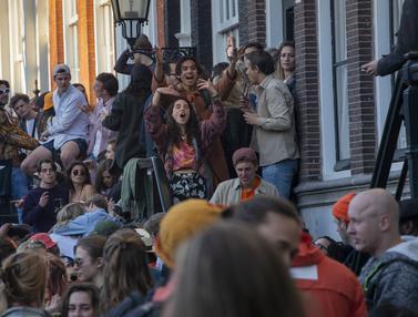 FOTO: Suka Ria Warga Belanda Rayakan Ulang Tahun Raja Willem-Alexander