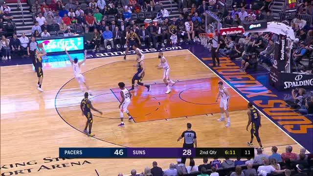Berita video game recap NBA 2017-2018 antara Indiana Pacers melawan Phoenix Suns dengan skor 120-97.