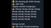 Cuitan kocak (Sumber: Twitter/@Moohd_Ilham)
